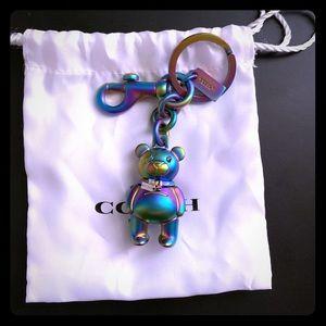 Coach Hologram Iridescent 3D Teddy Bear Bag Charm